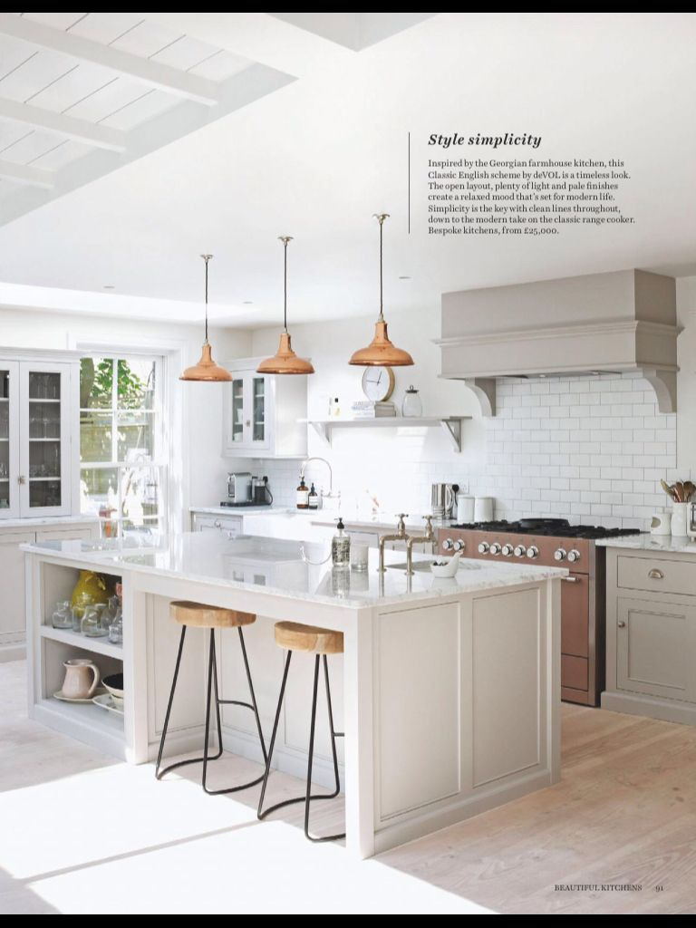 Metro tiles and putty colour kitchen   Kitchen   Pinterest   Metro ...