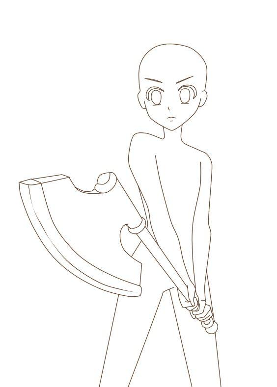 Anime Manga Girl Reference Drawing Base In 2020 Drawing Base Anime Poses Reference Anime Drawing Styles