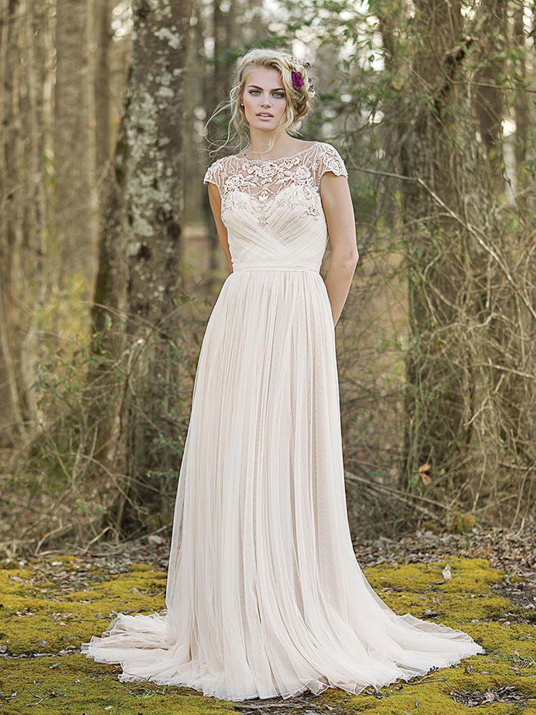 Lillian West Spring 2017 Boho Chic Wedding Dresses Theknot