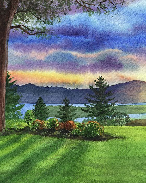 Evening Shadows Landscape Painting By Irina Sztukowski Landscape Paintings Painting Landscape