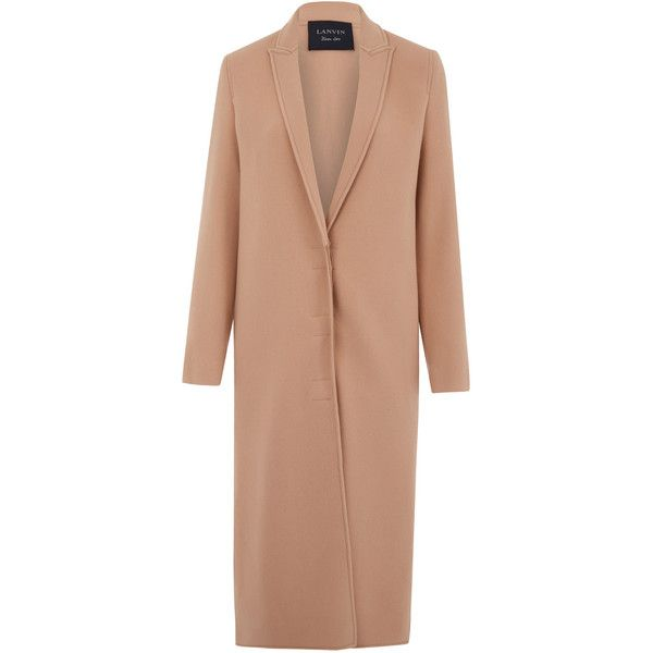 Lanvin Light Pink Double-Face Wool Coat (198.980 RUB) ❤ liked on ...