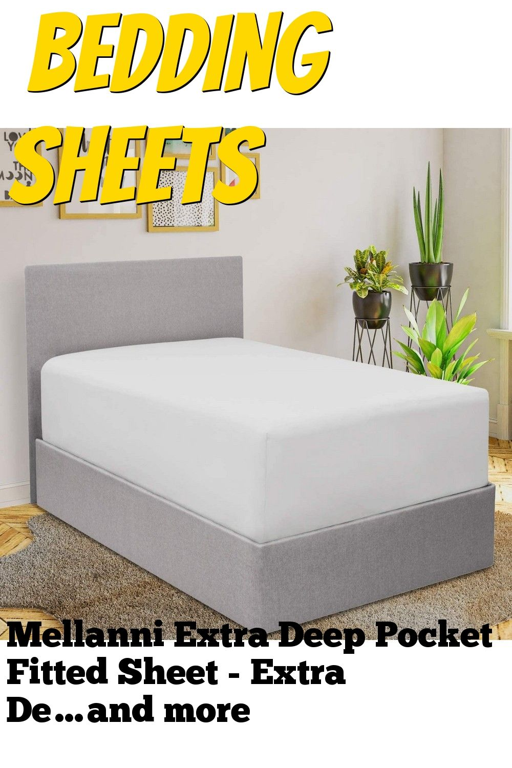 Mellanni Extra Deep Pocket Fitted Sheet Extra Deep Pocket King Size Bottom Sheet Only 1800 B King Mattress Mattress Size Chart King Size Mattress Extra deep pocket king size sheets