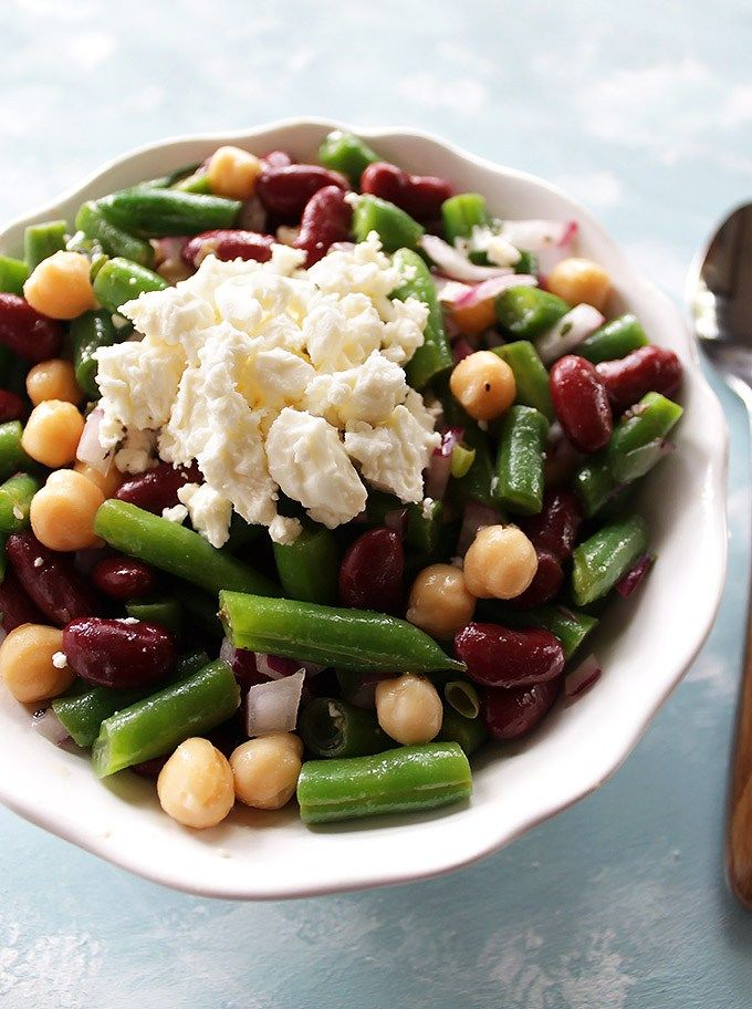Our Favorite Marinated 3 Bean Salad Great For Meal Prep Robust Recipes Recipe 3 Bean Salad Bean Salad Salad