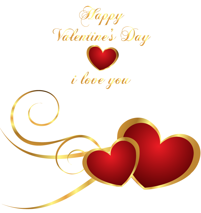 Transparent Happy Valentines Day Decor With Hearts My Valentine