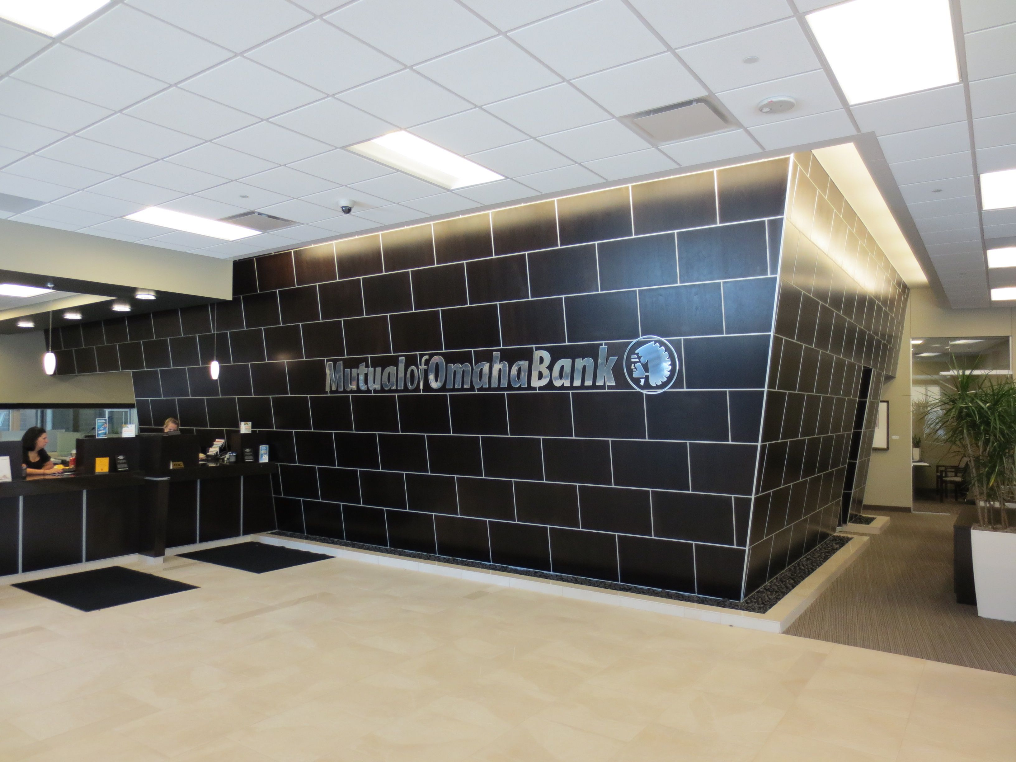 Stunning Design for Mutual of Omaha Bank using Marlite Surface