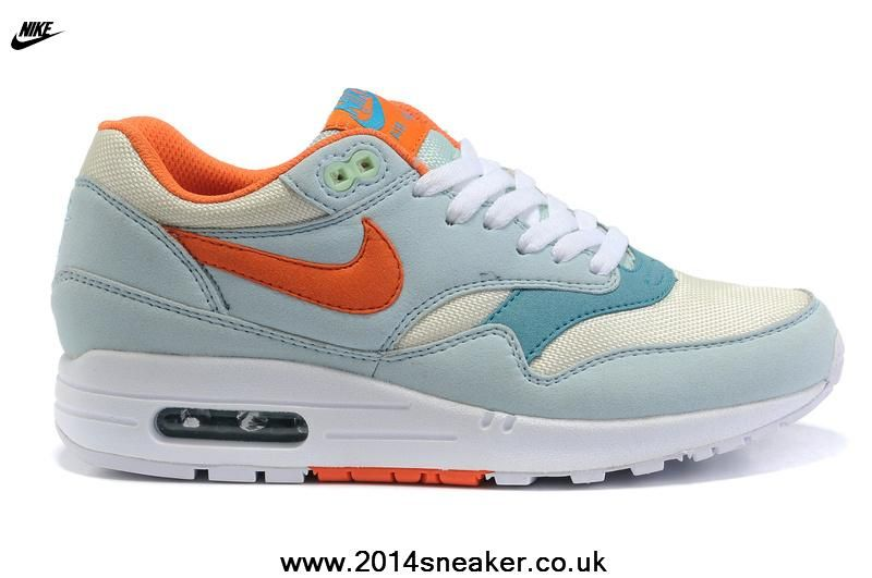 best sneakers 16e3c 3620f New Nike Air Max 87 Womens Shoes Light Skyblue Orange White Free Running  Shoes
