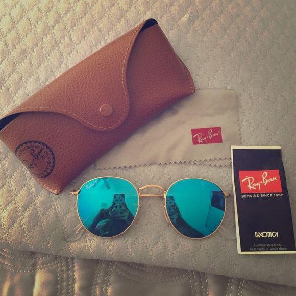 067e93fa3e6da Round Blue Flash lenses Ray-ban Polarized NO TRADES!!!! Polarized Rayban  sunglasses round metal