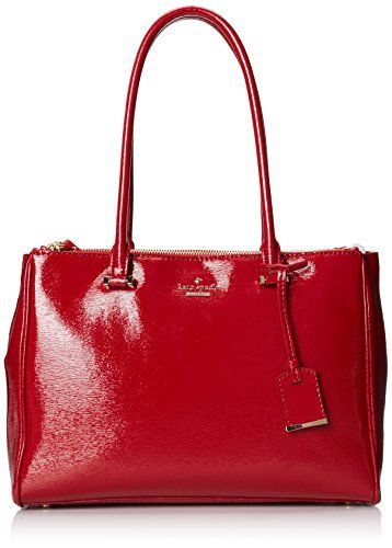 c312c806072 kate spade new york Cedar Street Patent Small Reena Shoulder Bag,Dynasty  Red,One