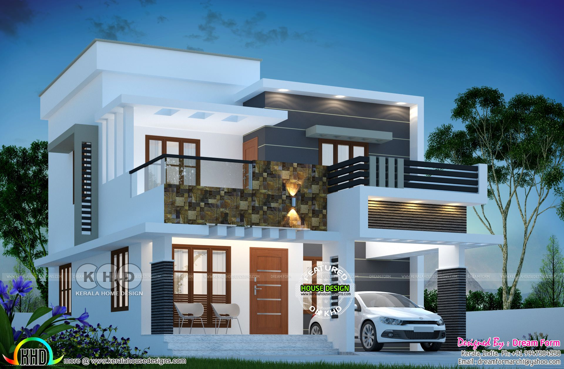 1615 Square Feet 3 Bedroom Modern Flat Roof House Flat Roof House Bungalow House Design 2 Storey House Design