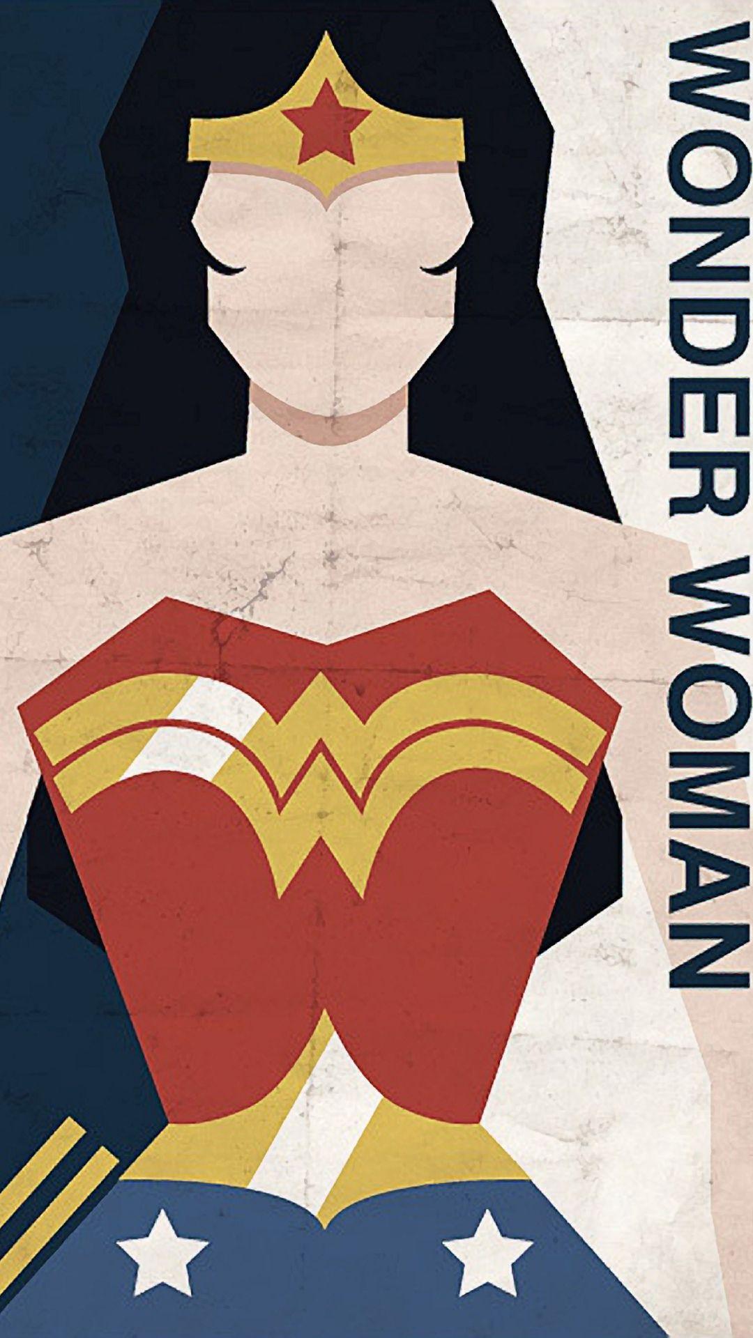 Wonder Woman Minimalist Poster Wonder woman justice league