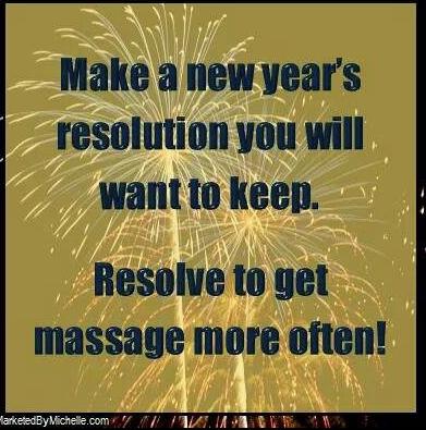 Resolve to get more massages! www.massagebook.com