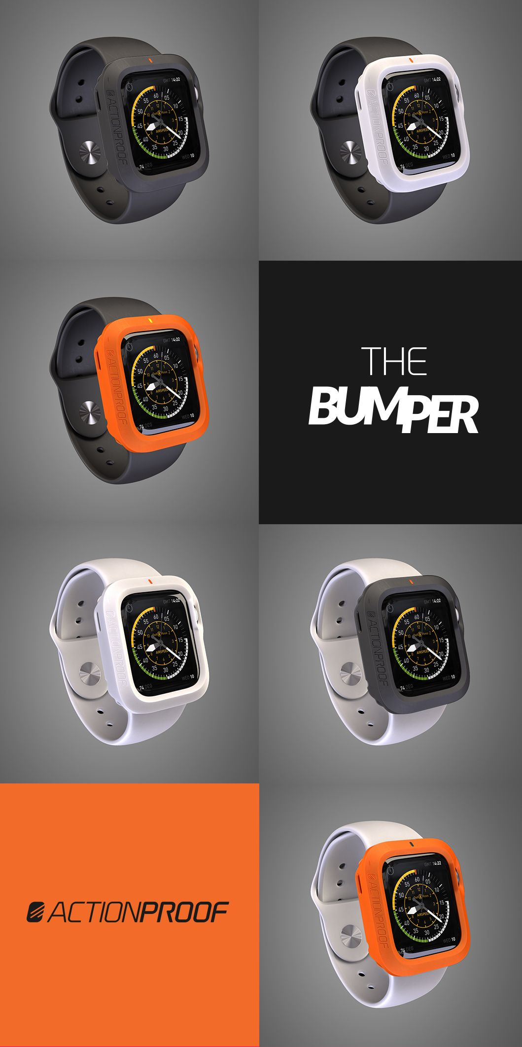 THE BUMPER BY ACTIONPROOF: Protect The Apple Watch