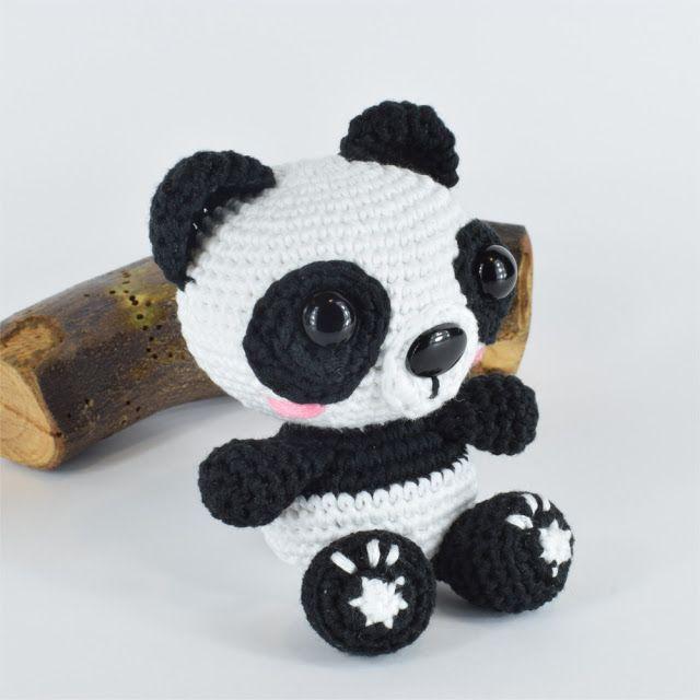 Panda de amigurumi de Ganchigurumi + Patrón Gratis – Crochet Con ...