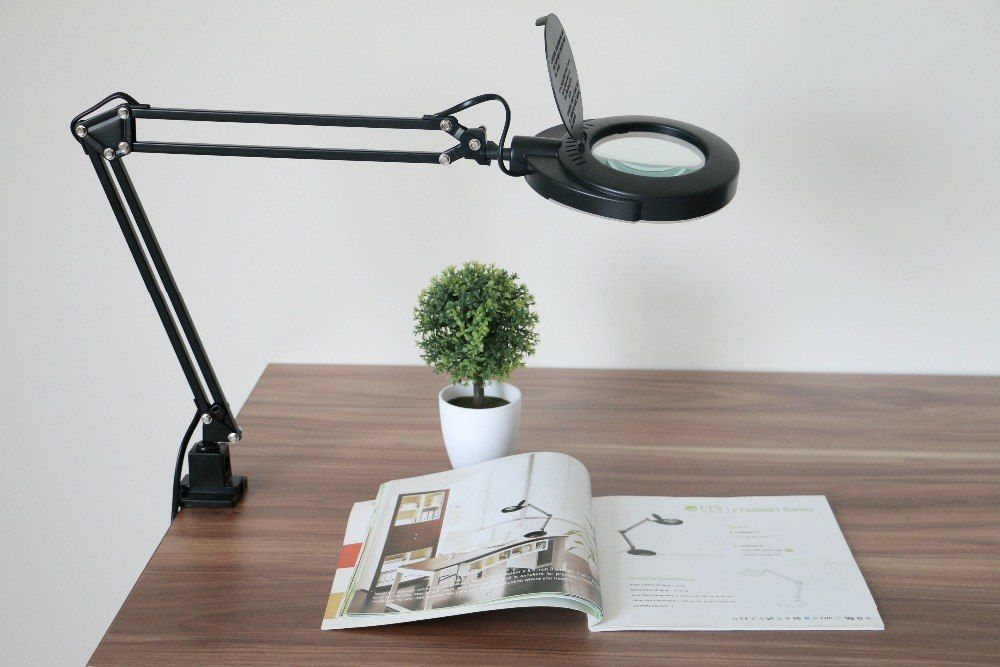 Magnifier Magnifying Glass Len Smd Led Swing Arm Task Clamp Clip On Lamp Lighting Desktop Reading Hobby Craft Work Low Vision Price 57 99 Free Shipping Te