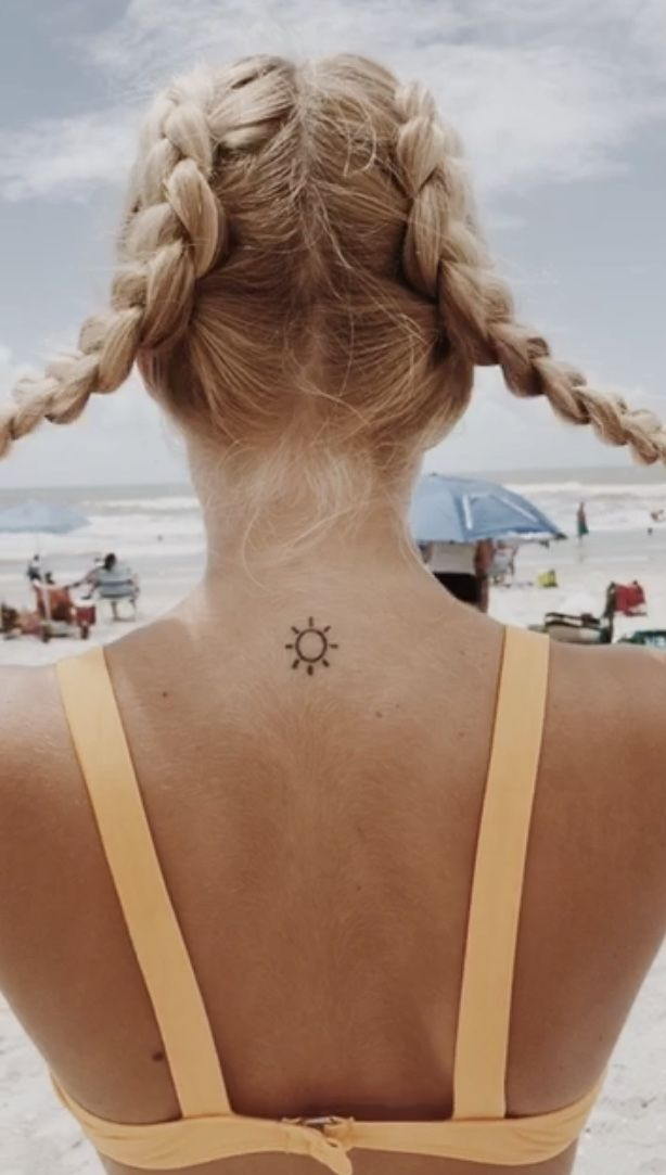 Beachy Henna Tattoos: Cute Tattoo That You Can Display With Braids