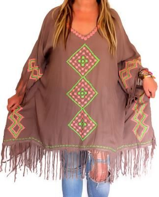 tunique forme poncho grande taille boheme boho hippie chic grande taille femme boheme boho. Black Bedroom Furniture Sets. Home Design Ideas