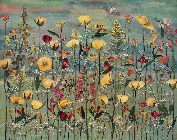 Meine Mutter Himmel 18 X 24 gepresste Blume Kunst Limited Edition Print