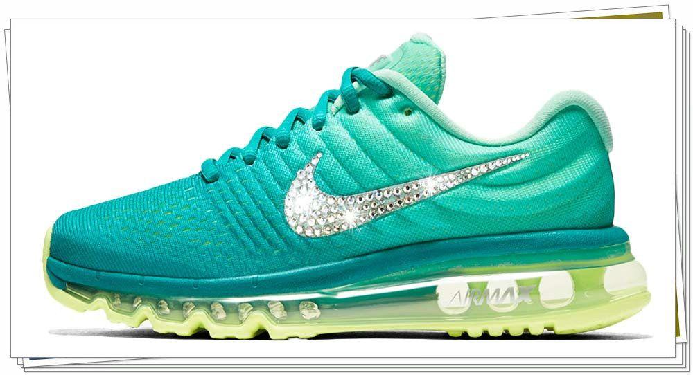 Spring Summer 2018 Fashion 2018 New Arrivals glitter kicks Nike Air Max Swarovski  Crystal Swoosh Tiffany