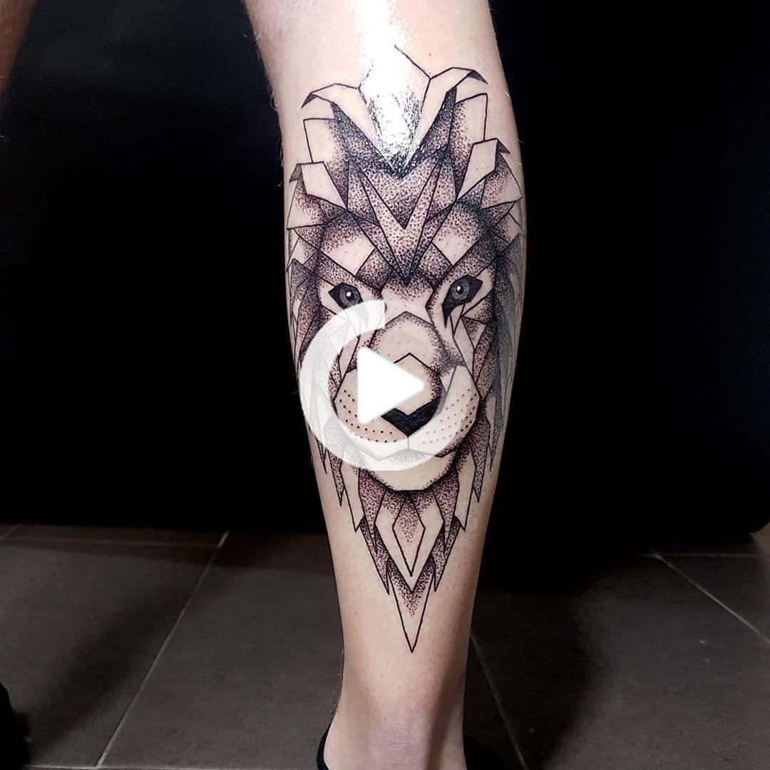 geometric tattoo designs leg
