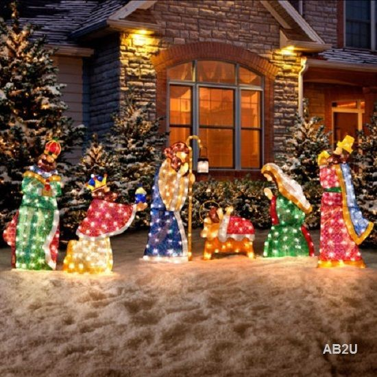 6 pc set holy family wisemen nativity scene christmas outdoor 6 pc set holy family wisemen nativity scene christmas outdoor lighted yard decor aloadofball Image collections