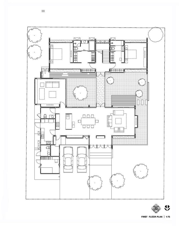 Wasser Element Haus Grundriss Feng Shui | Villa plan, Feng ...