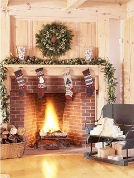 victorian christmas fireplace
