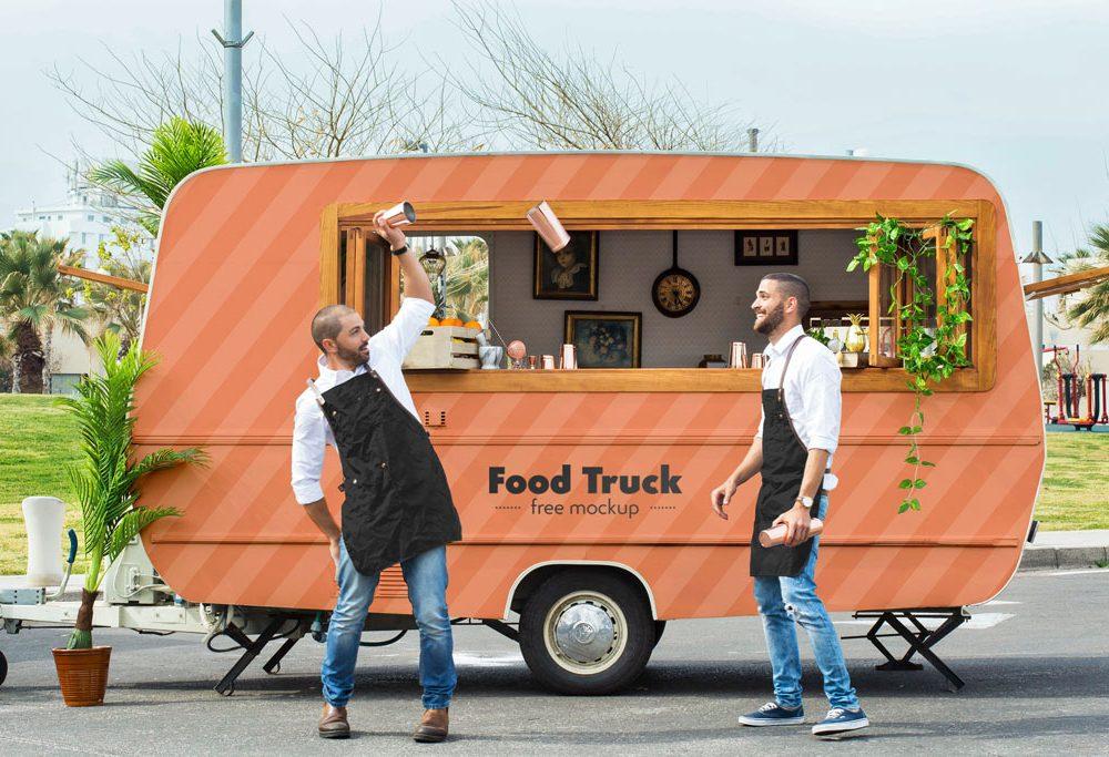 Food Truck Mockup Mockupworld Mockup Template Design Free Mockup