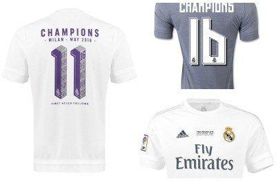 Real Madrid 2016 Uefa Champions League Adidas Winners Shirts Football Fashion Winner Shirts Uefa Champions League Football Fashion