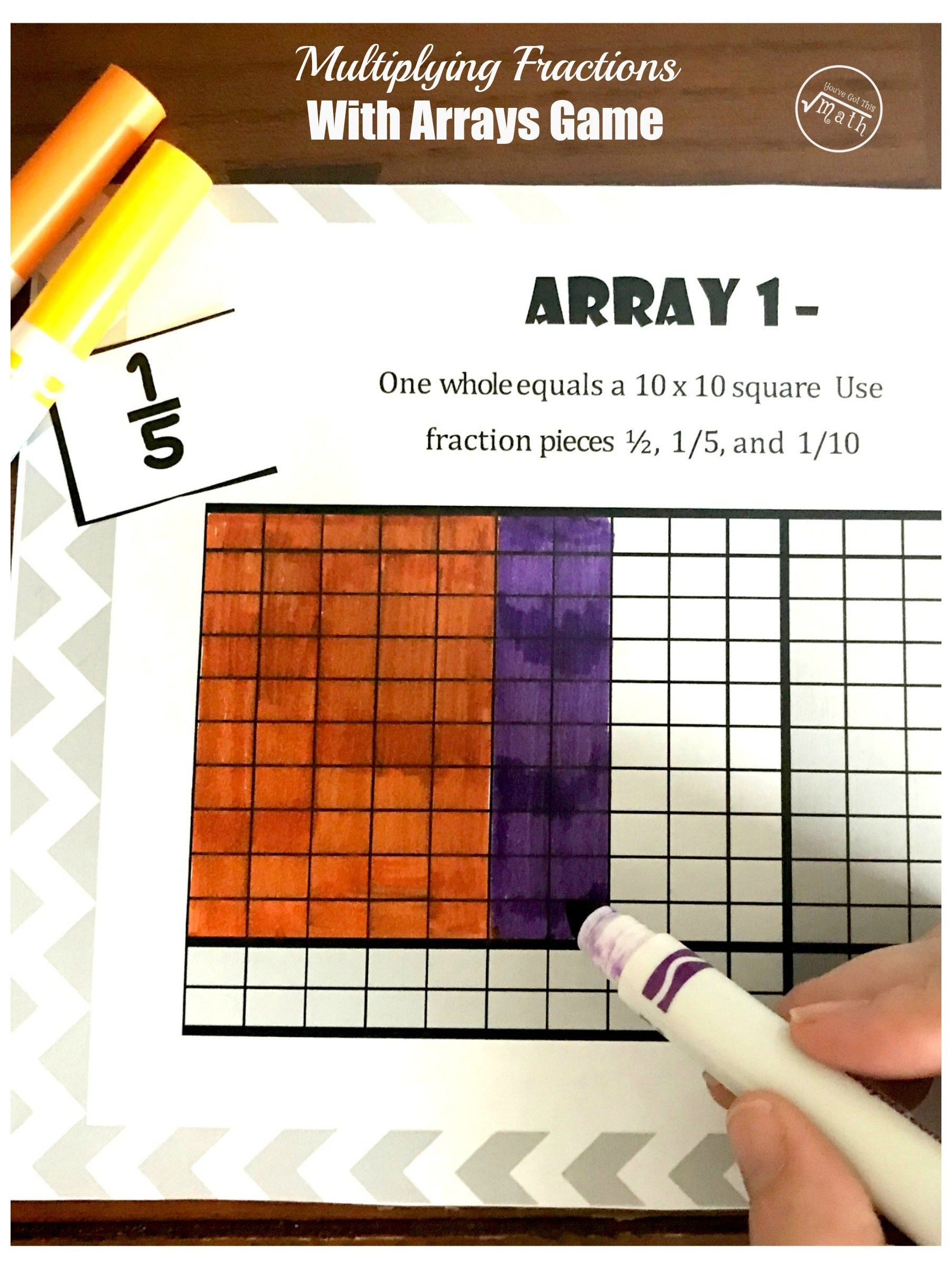 A Free Game To Help Children Learn to Multiply Fractions With Arrays