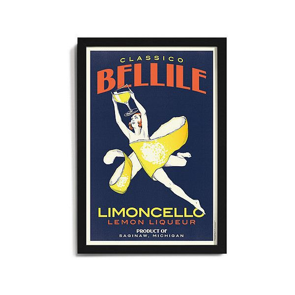 Personalized Wall Decor personalized 'limoncello' framed print ($250) ❤ liked on polyvore