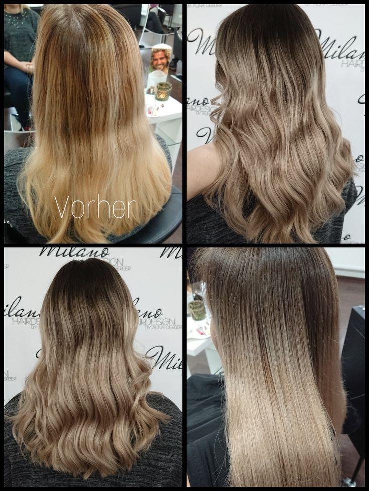 Longhair Lange Haare Balayage Weiche übergänge Wellen