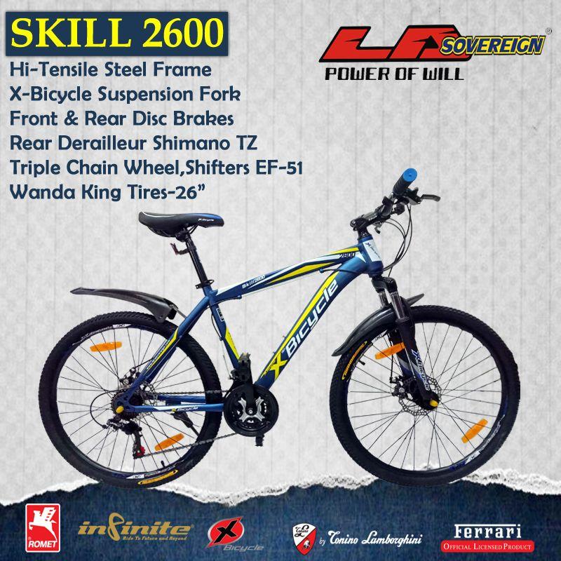 X Bicycle Skill 2600 Mtb Bike Ride Bike Bicycle Cycle Hybridbike Mtbbike Bmxbike Roadbike Kidsbike Fatbike Sports Fitn Kids Bike Bicycle Mtb Bike