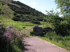North Berwick Scotland: North Berwick Law- Gate & Stile from Carpark