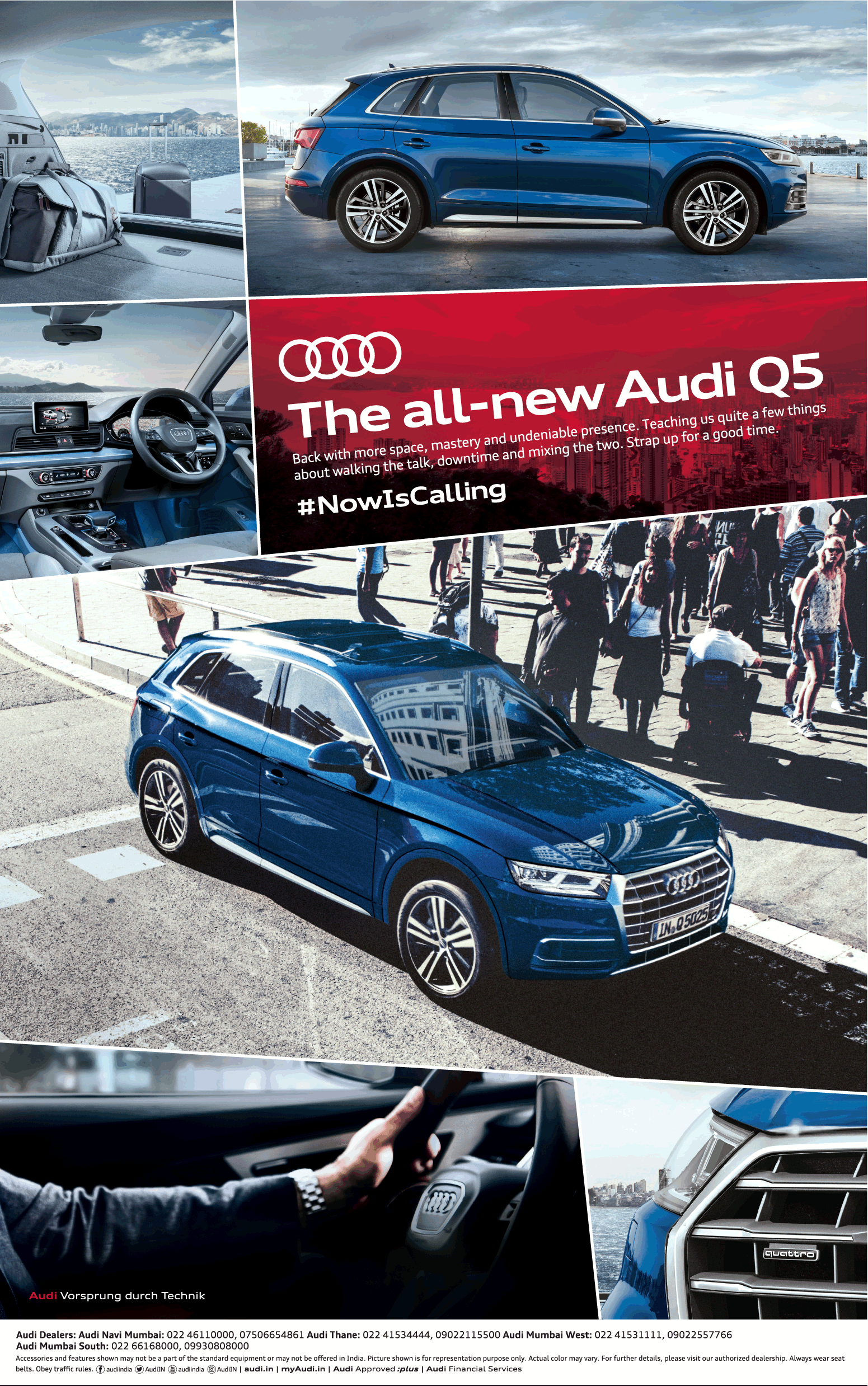 The All New Audi Q5 Now Is Calling Ad Times Of India Mumbai 19 01 2018 Audi Q5 Audi Car Advertising