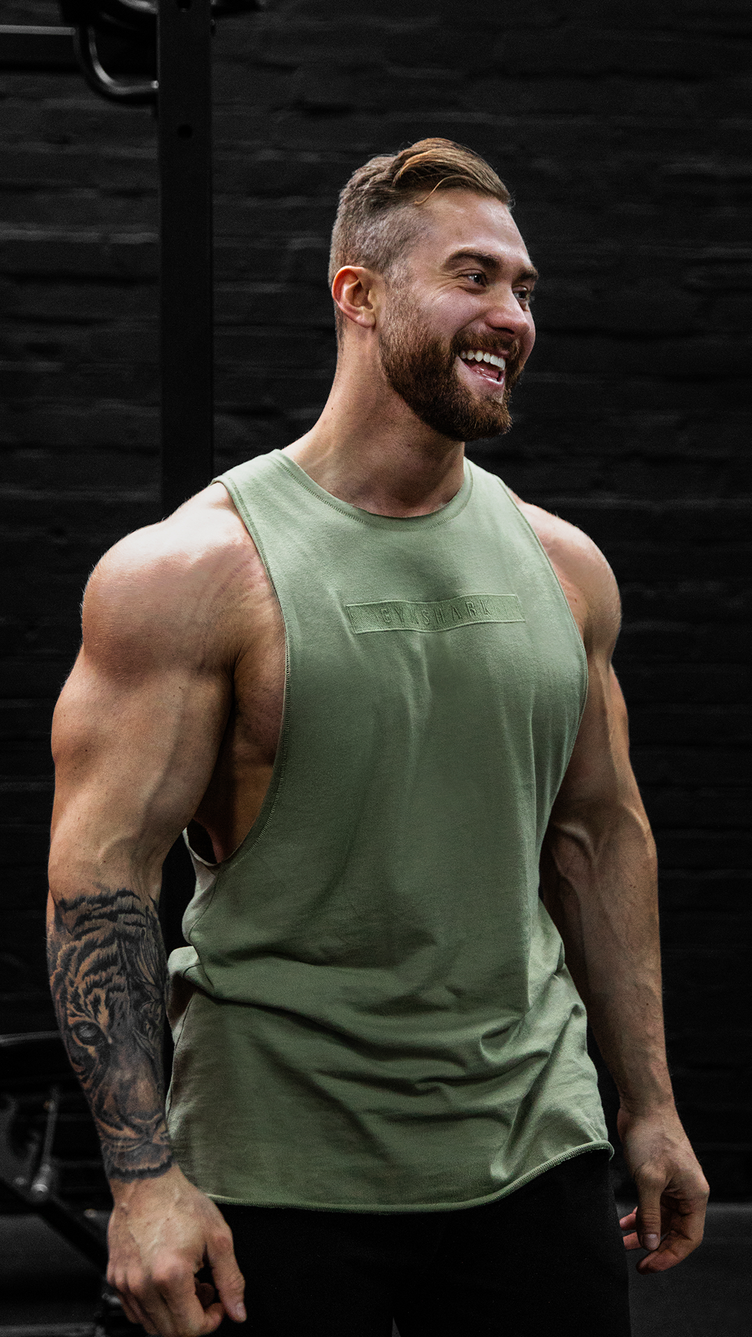 c0327d6a Chris Bumstead (@cbum) styles the Crucial Tank for his upper body workouts!  Killin' the game with the freshest looks! #Gymshark #Gym #Sweat #Train  #Perform ...
