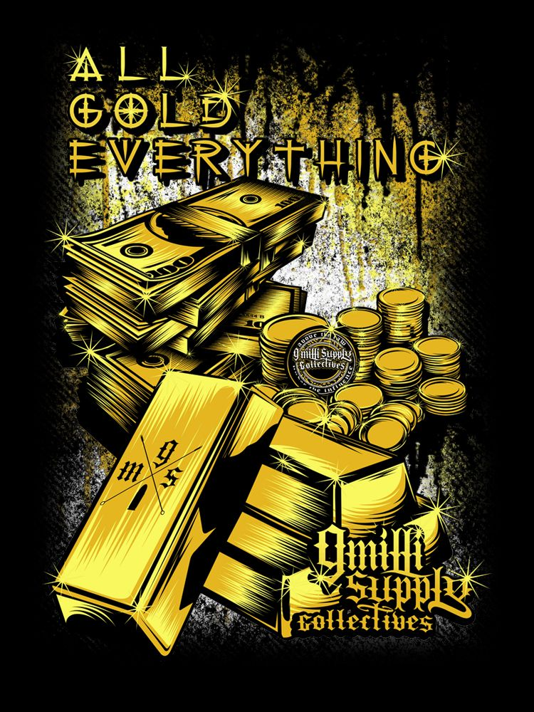 Artist: Paulo Tria aka Flick Picasso Title: All Gold Everything Work done for 9 Milli Supply Collective