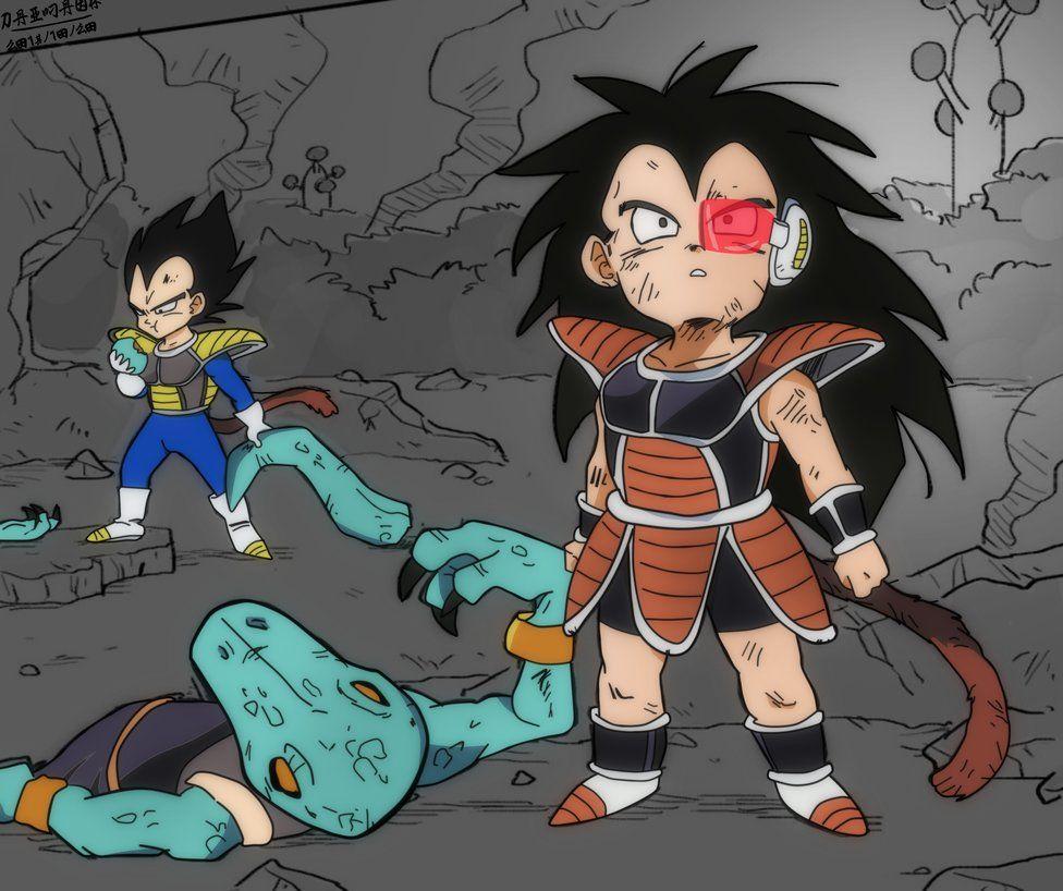 Kid Raditz And Vegeta By Daimaoha5a4 Dragon Ball Super Manga Dragon Ball Art Dragon Ball Artwork