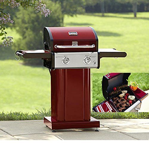 Outdoor Red 2 Burner Bbq Grill 20000 Btu By Outdoor Grill Want