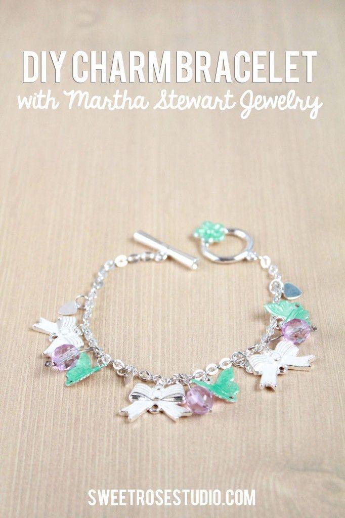 DIY Charm Bracelet with Martha Stewart Jewelry   Jewelry Craftiness ...