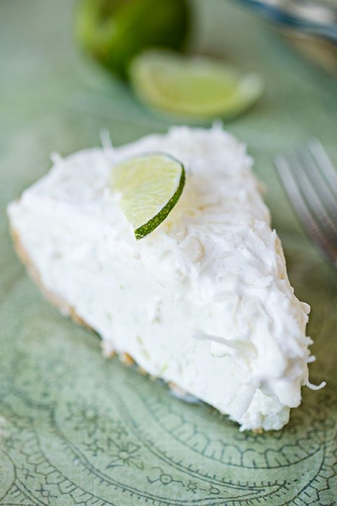 """Serve up this coconut-lime """"island breeze"""" icebox pie with a piña colada, because why not?"""