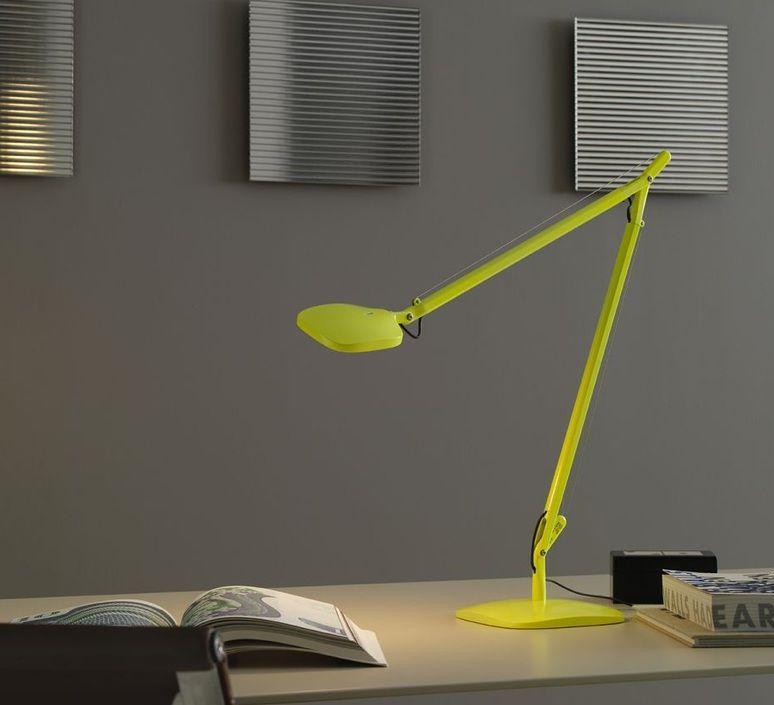 Lampe de bureau, Volée, LED, jaune fluorescent, H64cm - Fontana Arte