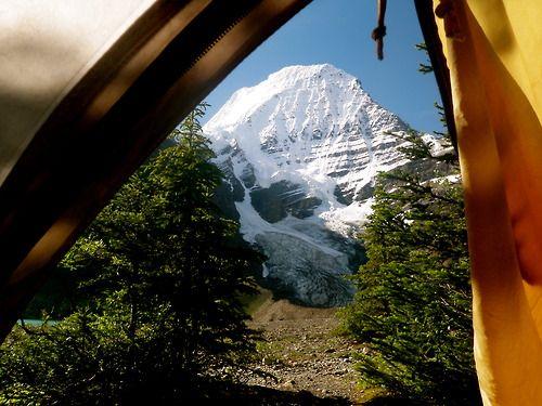 viewfromthetent:  Good morning, Mt. Robson.