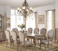 cream color dining room sets beige leather chairs wood colored