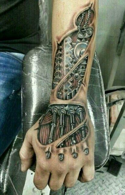 Biomechanical Hand Tattoo Biomechanical Tattoos Biomechanik Tattoos Inspirierende Tattoos