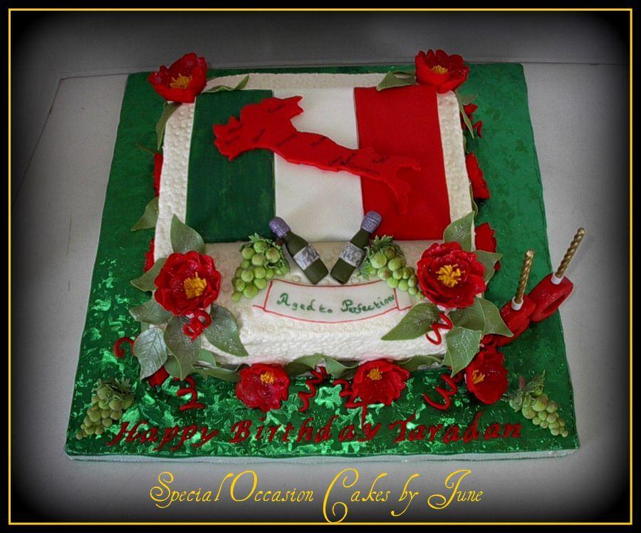 A taste of italy themed birthday cakes italy map
