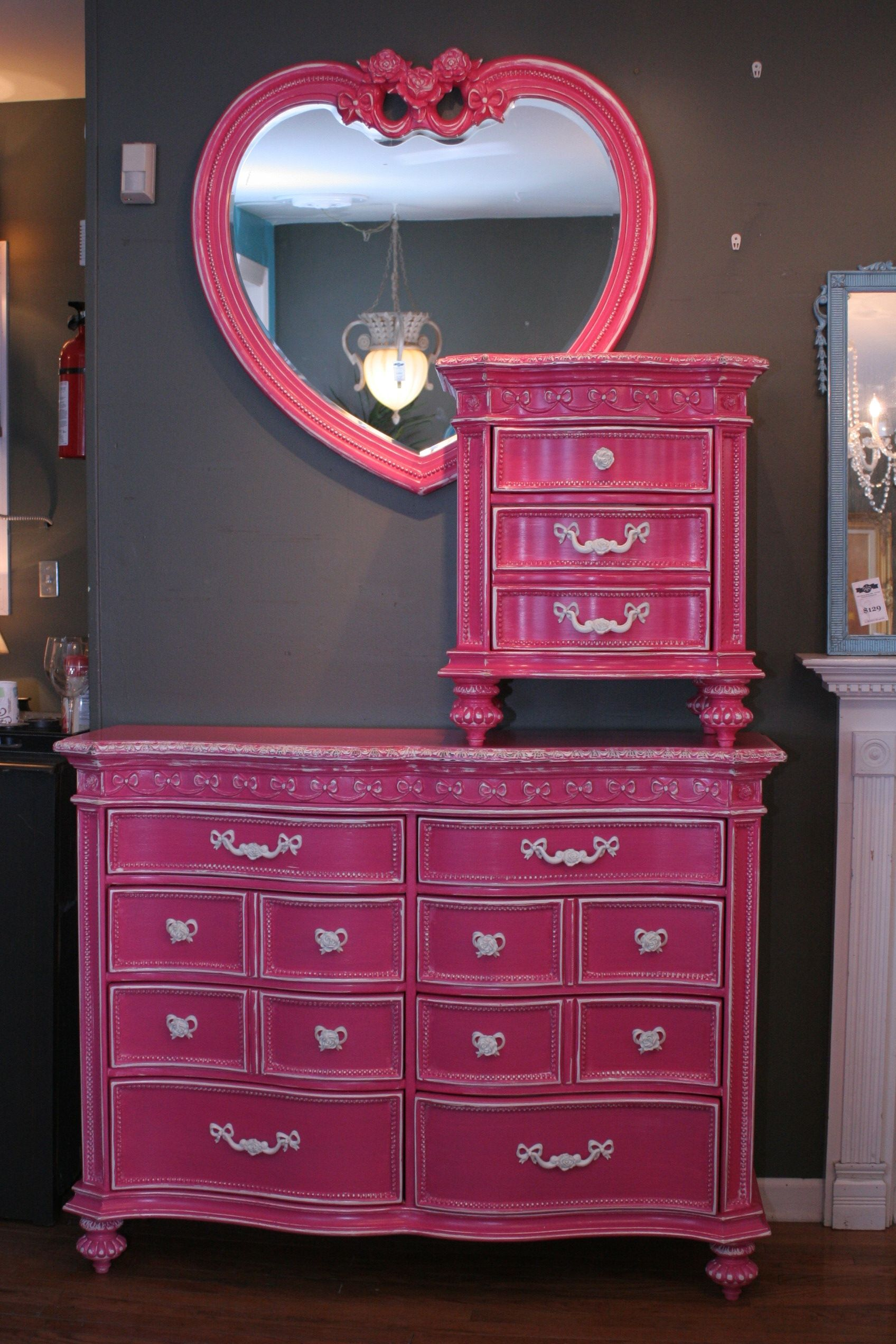Hot Pink Disney Princess Bedroom Set ~ $899 hand-painted (additional ...