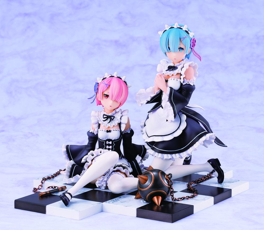 Rem Ram Special Stand Complete Set Ver Re Zero Figure Ram And Rem Anime Figures Smart Art