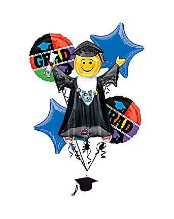 Get your graduate a special balloon bouquet. Graduation party supplies and more from CostumeSupercenter.com!