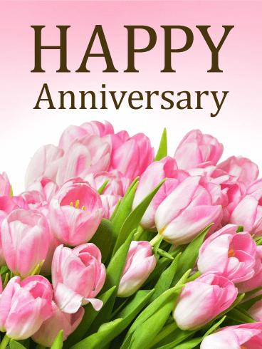 Pink Rose Happy Anniversary Card Birthday Greeting Cards By Davia Happy Anniversary Cards Happy Anniversary Wishes Happy Wedding Anniversary Wishes