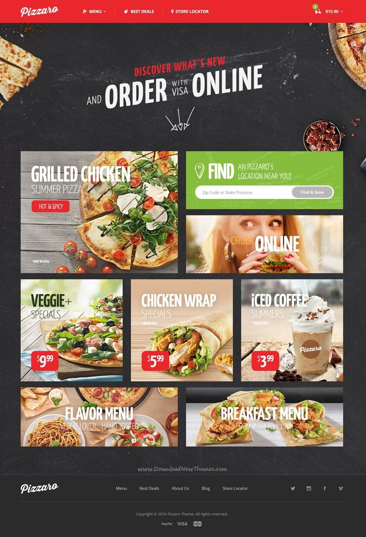 Pizzaro Food Online Ordering Ecommerce Psd Food Food App Online Food